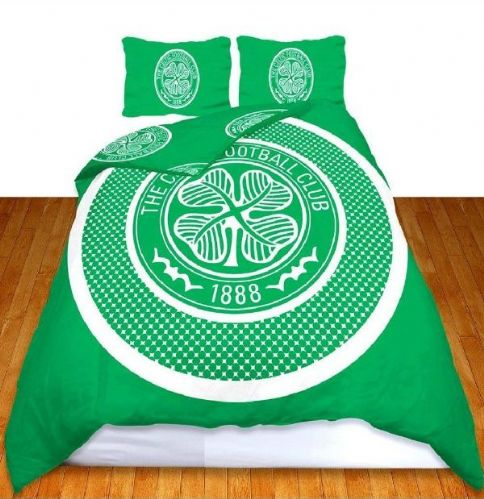 CELTIC FOOTBALL CLUB DOUBLE BED DUVET QUILT COVER BEDDING SET